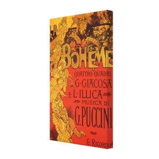 Música de Nouveau del arte del vintage, ópera de Lona Envuelta Para Galerías