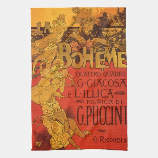 Música de Nouveau del arte del vintage, ópera de Toallas De Mano