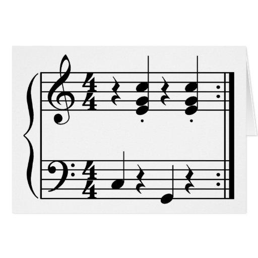 Música de OOM-PAH o de UMPAPA Tarjeta De Felicitación