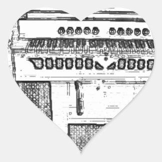 Música de órgano antigua de la iglesia pegatina de corazon