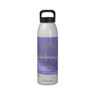 Música de oro botella de agua reutilizable