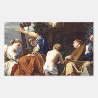 Música de Paolo Veronese Pegatina Rectangular
