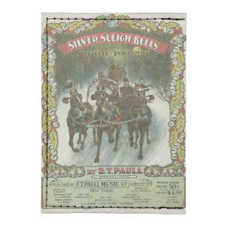 Música de plata del vintage de Belces de trineo