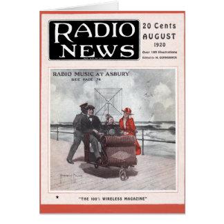 Música de radio en Asbury Tarjeta De Felicitación