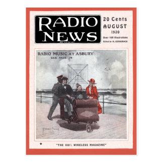 Música de radio en Asbury Tarjeta Postal