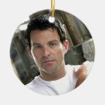 Música de Ryan Kelly - ornamento - blanco llano T Ornamento Para Arbol De Navidad