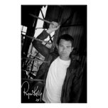 "Música de Ryan Kelly - poster ""firmó"" - escalera"