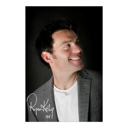 Música de Ryan Kelly - poster - sonrisa firmada