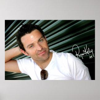 "Música de Ryan Kelly - poster - verde ""firmado """