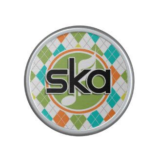 Música de Ska; Modelo colorido de Argyle Altavoz Bluetooth