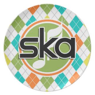 Música de Ska; Modelo colorido de Argyle Plato