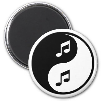Música de Yin Yang Imán Redondo 5 Cm