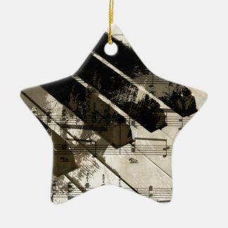 música, decoración (2).jpg del piano adorno navideño de cerámica en forma de estrella