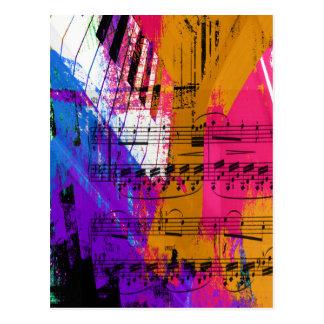 música, decoración del piano (12) tarjetas postales