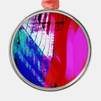 música, decoración del piano (13) adorno navideño redondo de metal