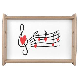 Música del amor bandeja