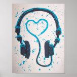 Música del amor de DJs Posters