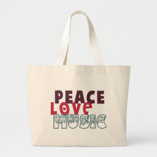 Música del amor de la paz bolsas de mano
