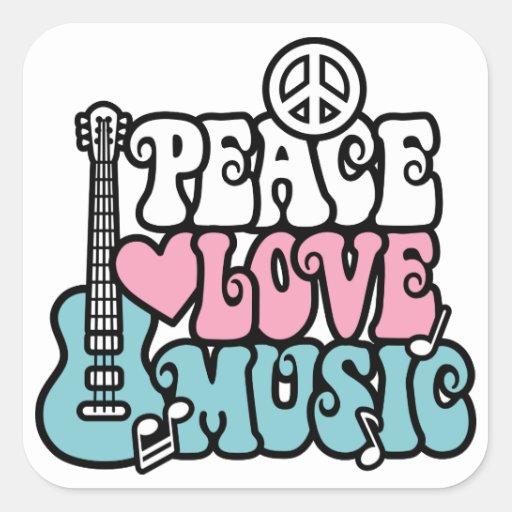 Música del amor de la paz colcomania cuadrada