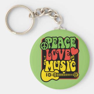 Música del amor de la paz de Rasta Llavero