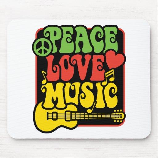 Música del amor de la paz de Rasta Tapete De Ratones