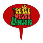 Música del amor de la paz del reggae figura de tarta