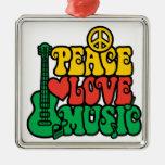 Música del amor de la paz del reggae adornos
