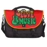 Música del amor de la paz del reggae bolsas para portatil