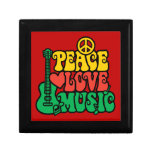 Música del amor de la paz del reggae caja de joyas