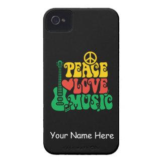 Música del amor de la paz del reggae Case-Mate iPhone 4 protectores