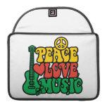 Música del amor de la paz del reggae fundas para macbooks