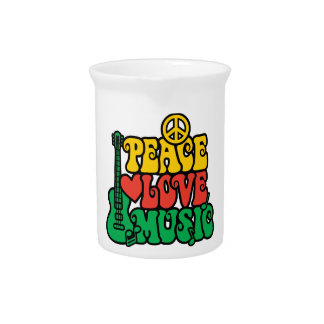 Música del amor de la paz del reggae jarra