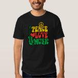 Música del amor de la paz del reggae poleras