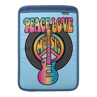Música del amor de la paz del vinilo fundas para macbook air