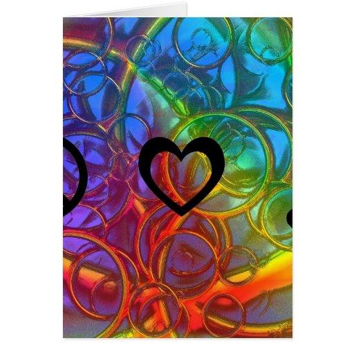 Música del amor de la paz felicitación