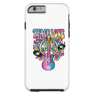 Música del amor de la paz funda de iPhone 6 tough