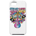 Música del amor de la paz iPhone 5 Case-Mate cárcasa