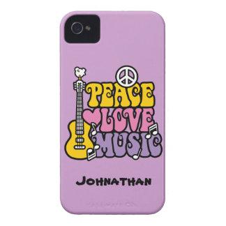 Música del amor de la paz Case-Mate iPhone 4 carcasas