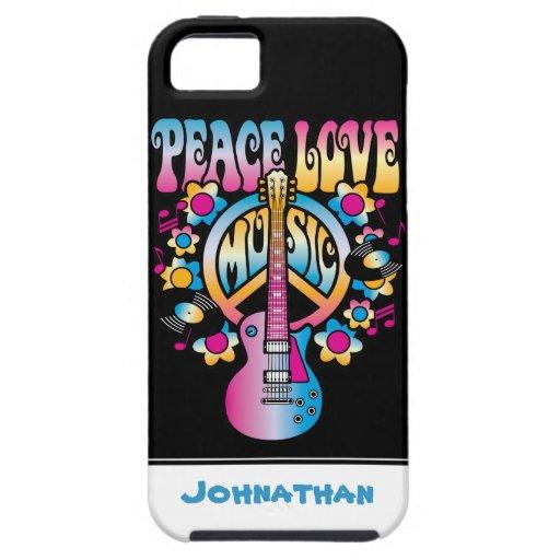 Música del amor de la paz funda para iPhone 5 tough