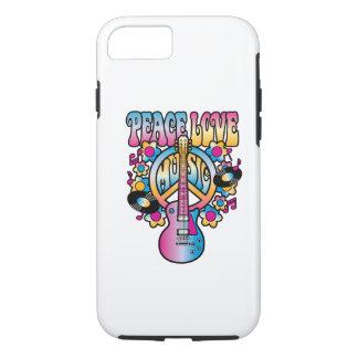 Música del amor de la paz funda iPhone 7