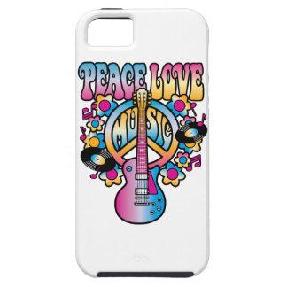 Música del amor de la paz funda para iPhone SE/5/5s