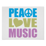 Música del amor de la paz impresiones
