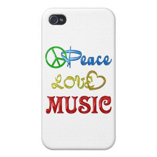 MÚSICA DEL AMOR DE LA PAZ iPhone 4 FUNDA