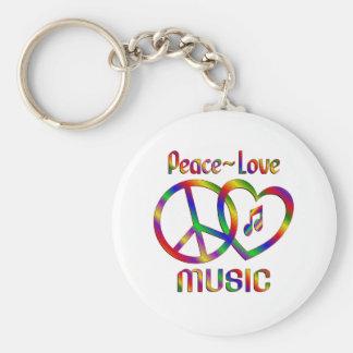 Música del amor de la paz llavero personalizado