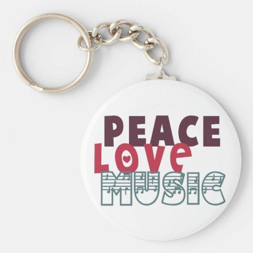 Música del amor de la paz llavero redondo tipo pin