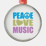 Música del amor de la paz ornato