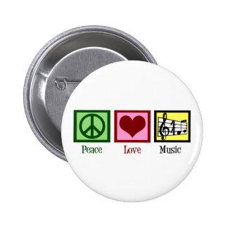 Música del amor de la paz pin