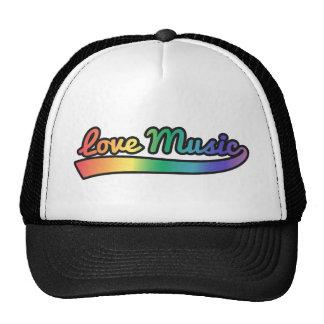 Música del amor en colores del arco iris gorros