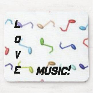 ¡Música del amor! Mousepad