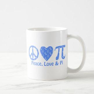 Música del amor pi de la paz taza de café